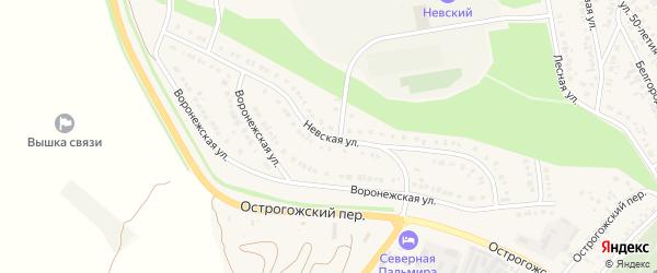 Невская улица на карте Алексеевки с номерами домов