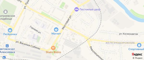 Улица Маяковского на карте Алексеевки с номерами домов