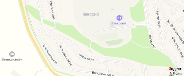 Спортивная улица на карте Алексеевки с номерами домов
