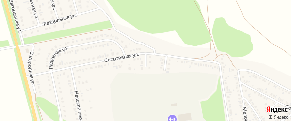 1-й Спортивный тупик на карте Алексеевки с номерами домов