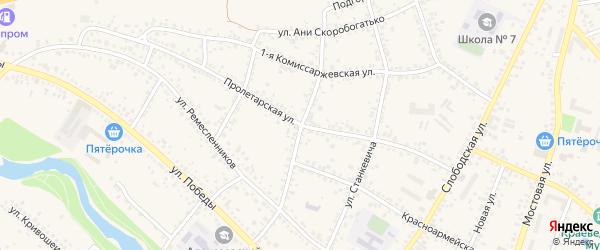 Улица М.Горького на карте Алексеевки с номерами домов