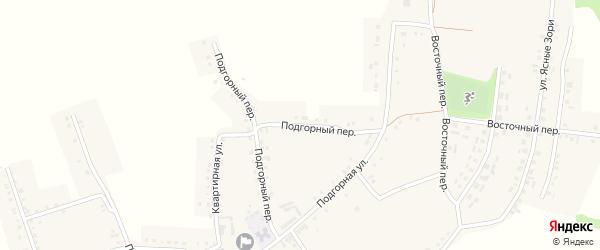Подгорный переулок на карте Красного села с номерами домов
