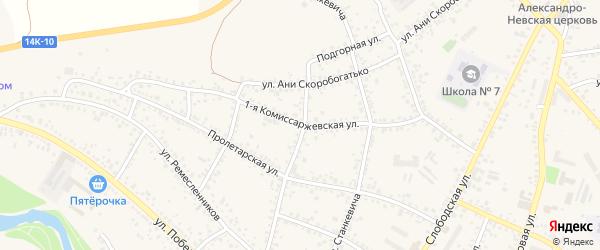 1-я Комиссаржевская улица на карте Алексеевки с номерами домов