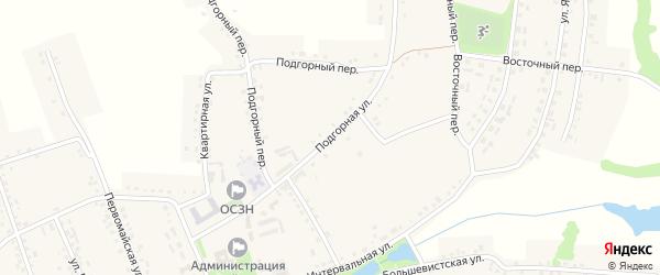 Подгорная улица на карте Красного села с номерами домов