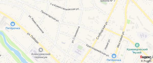 Улица Станкевича на карте Алексеевки с номерами домов