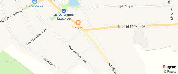 Октябрьская улица на карте Красного села с номерами домов