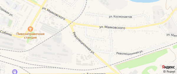 Революционный переулок на карте Алексеевки с номерами домов