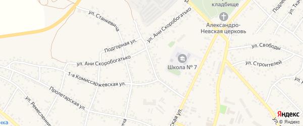 2-я Комиссаржевская улица на карте Алексеевки с номерами домов