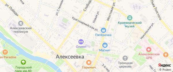Новая улица на карте Алексеевки с номерами домов