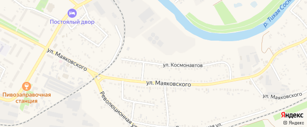 Улица Космонавтов на карте Алексеевки с номерами домов