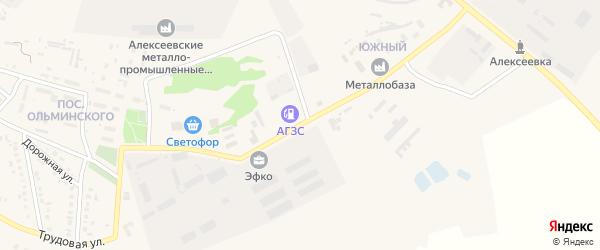 Южный переулок на карте Алексеевки с номерами домов
