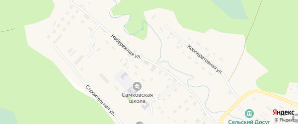 Набережная улица на карте поселка Самково с номерами домов