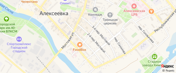 Улица Ст.Большевиков на карте Алексеевки с номерами домов