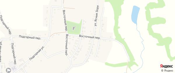 Восточный переулок на карте Красного села с номерами домов