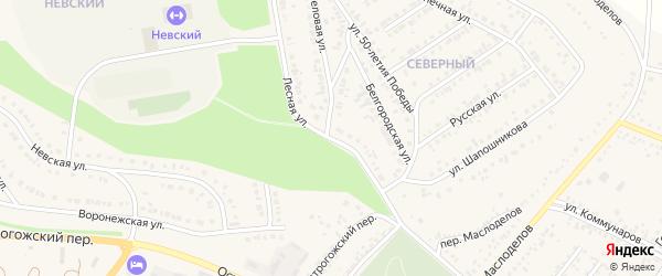 Лесная улица на карте Алексеевки с номерами домов