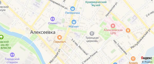 Улица Гагарина на карте Алексеевки с номерами домов