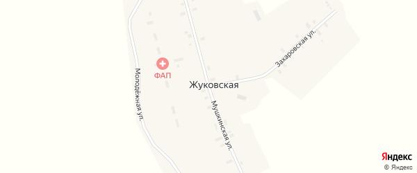 Мушкинская улица на карте Жуковской деревни с номерами домов