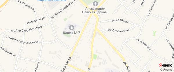 4-й Мостовой переулок на карте Алексеевки с номерами домов
