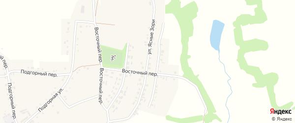 Улица Ясные Зори на карте Красного села с номерами домов