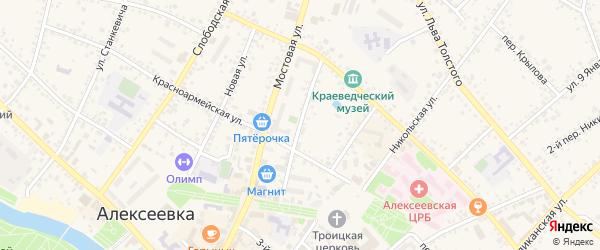 Улица Чернышевского на карте Алексеевки с номерами домов