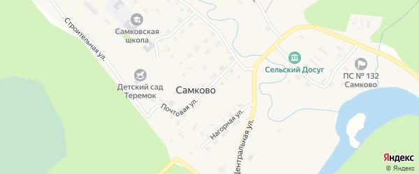 Почтовая улица на карте поселка Самково с номерами домов
