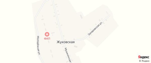 Захаровская улица на карте Жуковской деревни с номерами домов