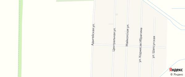 Адыгейская улица на карте аула Панахес с номерами домов