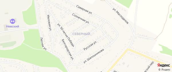 4-й Солнечный переулок на карте Алексеевки с номерами домов