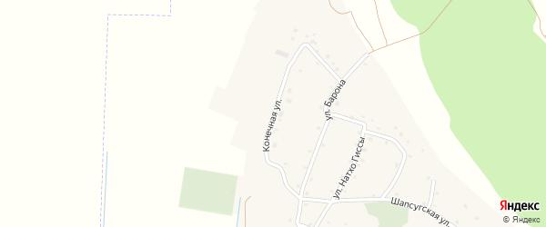 Конечная улица на карте аула Псейтука с номерами домов