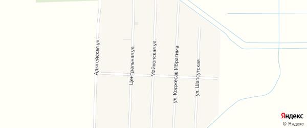 Майкопская улица на карте аула Панахес с номерами домов