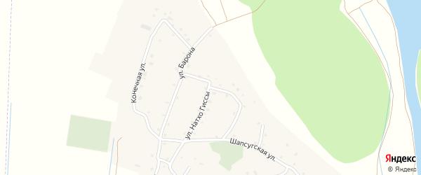 Короткая улица на карте аула Псейтука с номерами домов