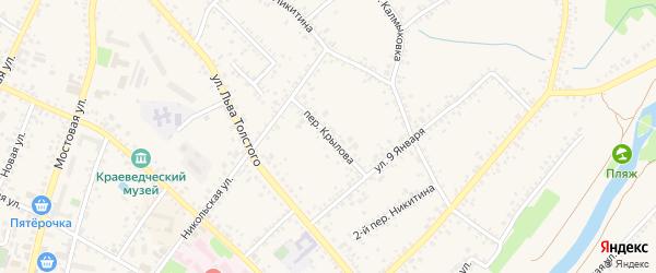 Переулок Крылова на карте Алексеевки с номерами домов