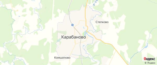 Карта Карабаново с районами, улицами и номерами домов