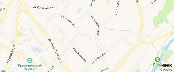 Улица Никитина на карте Алексеевки с номерами домов