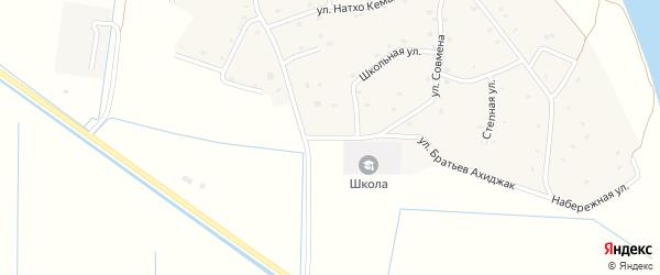 Школьная улица на карте аула Псейтука с номерами домов