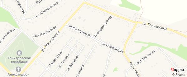 Улица Коммунаров на карте Алексеевки с номерами домов