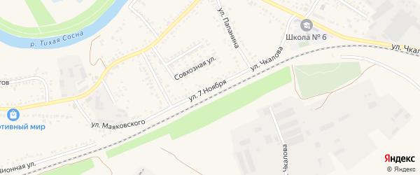Улица 7 Ноября на карте Алексеевки с номерами домов