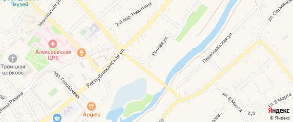 Речная улица на карте Алексеевки с номерами домов