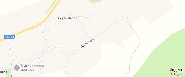 Лесная улица на карте села Глуховка с номерами домов