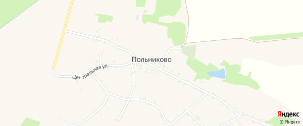 Садовый переулок на карте села Польниково с номерами домов
