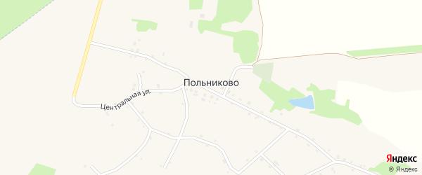 Подлесный переулок на карте села Польниково с номерами домов