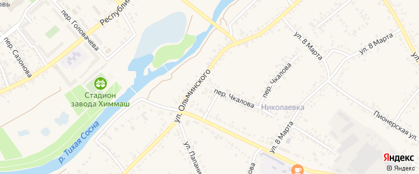 Переулок 2-й Чкалова на карте Алексеевки с номерами домов