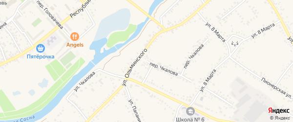 Переулок Чкалова на карте Алексеевки с номерами домов