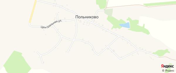 Центральная улица на карте села Польниково с номерами домов