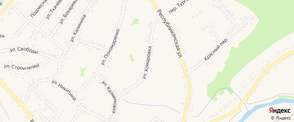 Улица Комаровка на карте Алексеевки с номерами домов