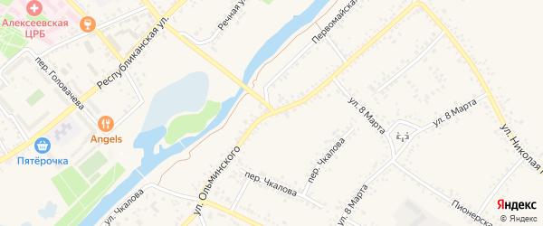 Улица Ольминского на карте Алексеевки с номерами домов