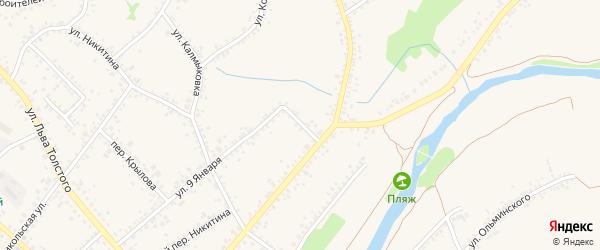 Переулок 9 Января на карте Алексеевки с номерами домов