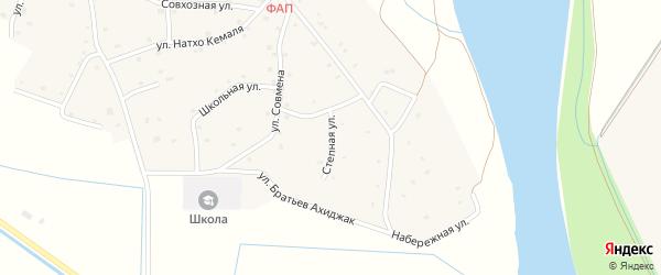 Степная улица на карте аула Псейтука с номерами домов