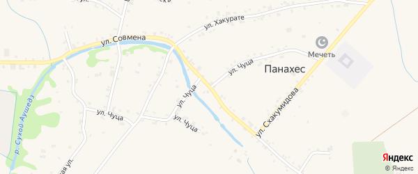 А/Д Панахес-Львовская дорога на карте аула Панахес с номерами домов