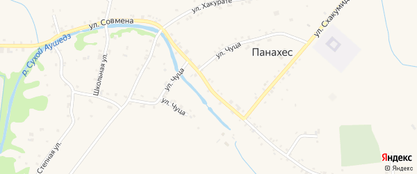 Улица Х.М.Совмена на карте аула Панахес с номерами домов
